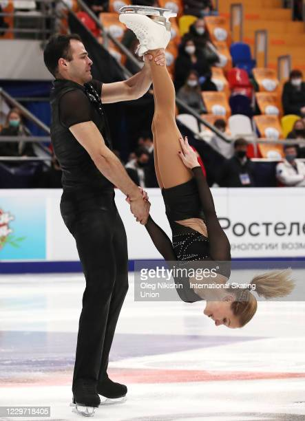 Ioulia Chtchetinina and Mark Magyar of Hungary perform in the Pairs Free Skating Program during day two of the ISU Grand Prix of Figure Skating...