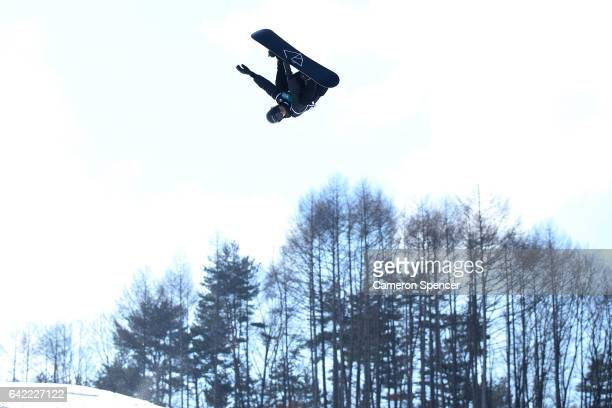 Iouri Podladtchikov of Switzerland competes in the FIS Freestyle World Cup Snowboard Halfpipe Qualification at Bokwang Snow Park on February 17 2017...