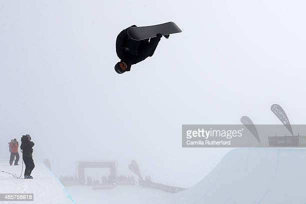 Iouri Podladtchikov of Switzerland competes in the FIS Snowboard World Cup Halfpipe Finals during the Winter Games NZ at Cardrona Alpine Resort on...