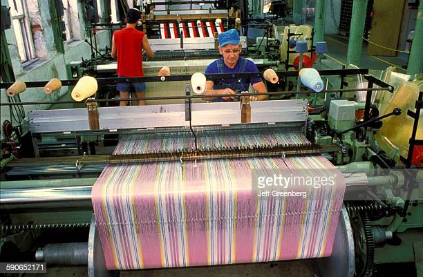 Iowa Amana German Ethnic Religious Commune Visitors Watch Blanket Weavers And Looms