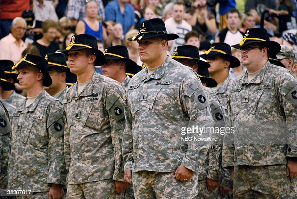 NBC NEWS Iowa Army National Guard Pictured The sendoff ceremony for Troops A and B of the 1113th Cavalry of the Iowa Army National Guard