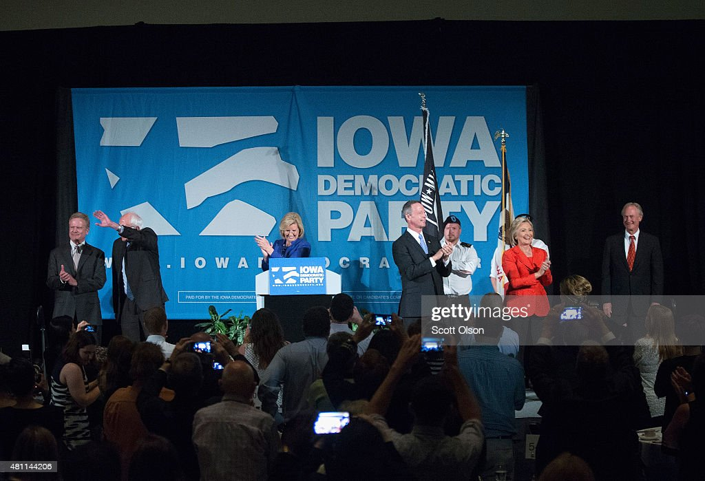 Hillary Clinton Hosts Kick Off Party For Iowa Campaign In Cedar Rapids