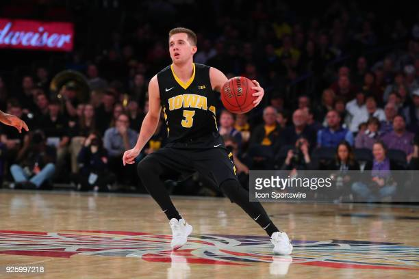 Iowa Hawkeyes guard Jordan Bohannon during the first half of a second round Big Ten Tournament College Basketball Game between the Michigan...