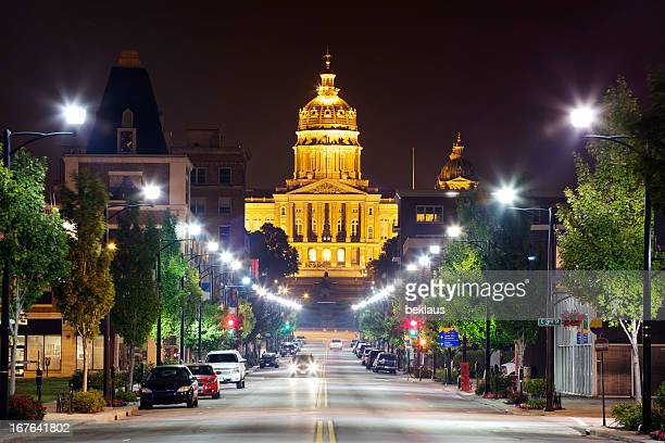 Iowa State Capitol at Night