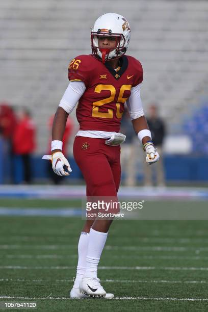 Iowa State Cyclones defensive back Anthony Johnson in the fourth quarter of a Big 12 football game between the Iowa State Cyclones and Kansas...