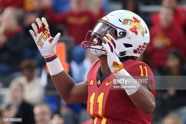 Iowa State Cyclones defensive back Lawrence White can't believe the call in the fourth quarter of a Big 12 football game between the Iowa State...