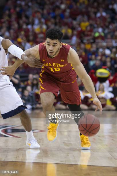 Iowa State Cyclones guard Nazareth MitrouLong during the Big 12 tournament championship game between the West Virginia Mountaineers and the Iowa...