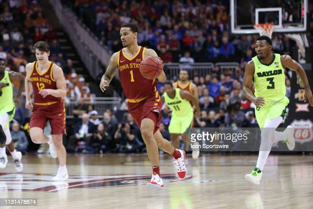 Iowa State Cyclones guard Nick WeilerBabb leads the fast break in the second half of a quarterfinal Big 12 tournament game between the Iowa State...