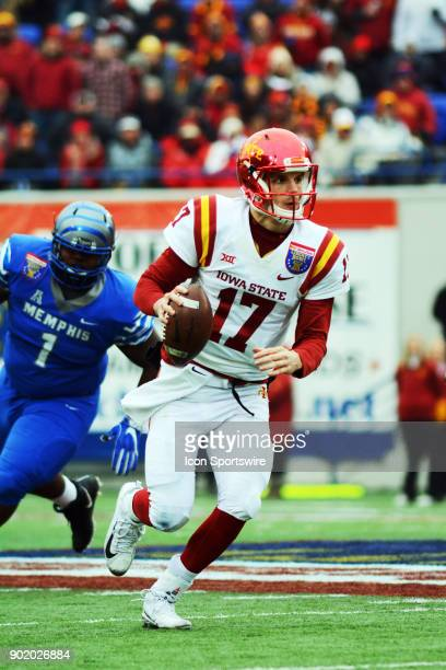 Iowa State Cyclones quarterback Kyle Kempt during the AutoZone Liberty Bowl game between the Memphis Tigers and the Iowa State Cyclones on December...