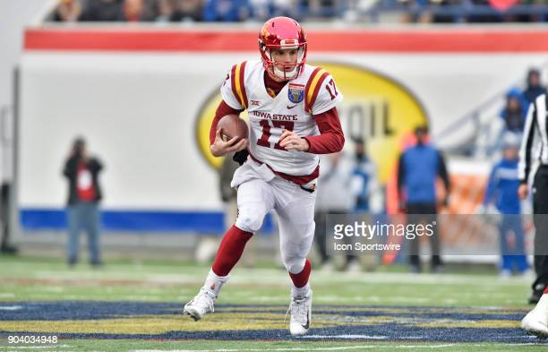 Iowa State Cyclones quarterback Kyle Kempt rushes upfield during the third quarter of a NCAA college football game against the Memphis Tigers in the...