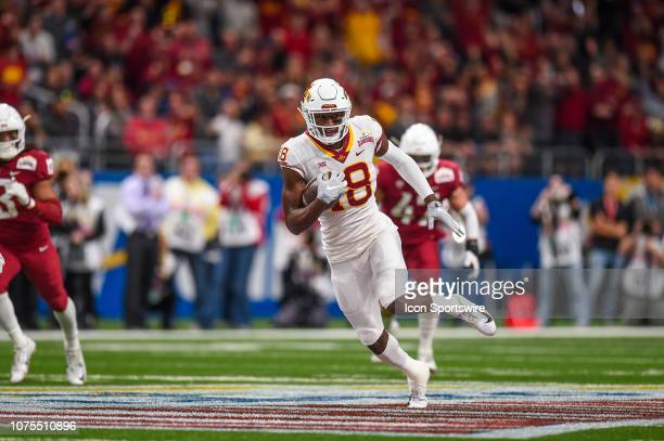 Iowa State Cyclones wide receiver Hakeem Butler runs the ball during the Alamo Bowl between the Washington State Cougars and Iowa State Cyclones on...