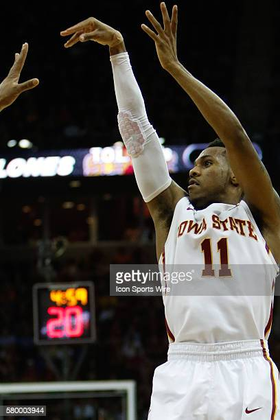 Iowa State guard Monte Morris during the Thursday game between Iowa State and Texas in the Big 12 Tournament at the Sprint Center Iowa State defeated...