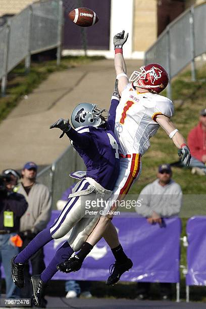 Iowa State wide receiver Todd Blythe can't reach the overthrown pass as KState Cedrick Williams defends on the play KState lost to Iowa State 3723 at...