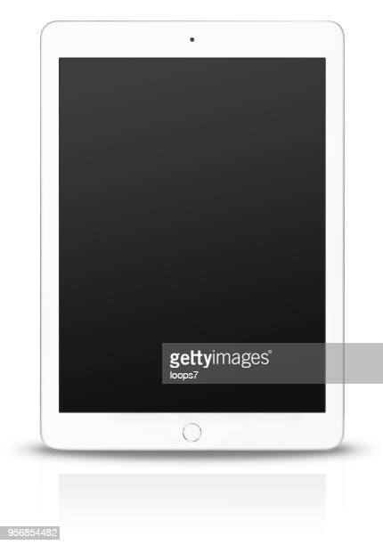 ipad pro with black blank screen - loops7 stock photos and pictures