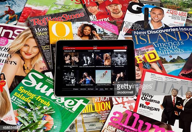 iPad with Magazines