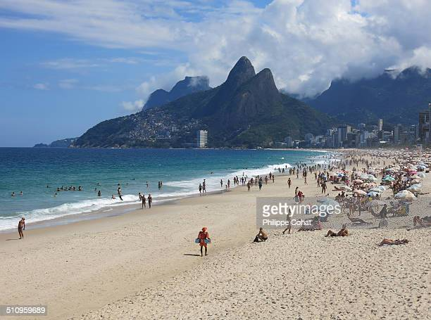 Ipanema Beach and Dois Irmaos Mountain