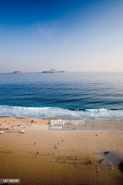 Ipanema Beach Ocean View at Sunset in Rio de Janeiro
