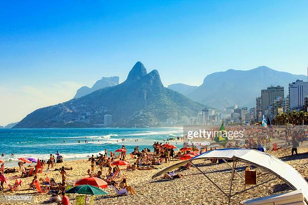 ipanema beach - brazil stock pictures, royalty-free photos & images
