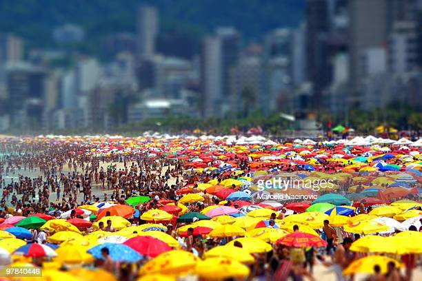 ipanema beach - marcelo nacinovic stock pictures, royalty-free photos & images