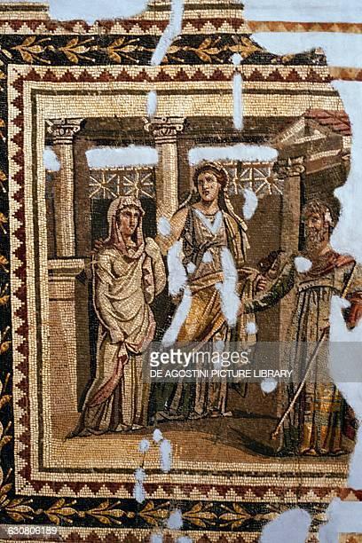 Iphigenia in Aulis mosaic from Antioch Roman civilisation 3rd century BC Antakya Hatay Archaeology Museum