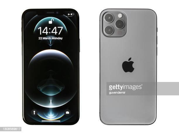 iphone 12プロマックスグラフィット - iphone 12 ストックフォトと画像