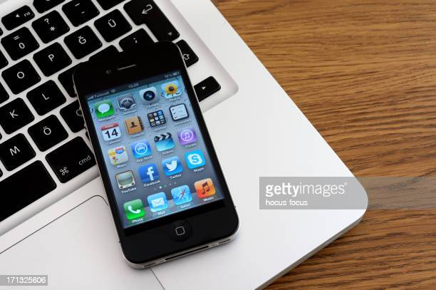 iphone 4 & macbook pro - camera icon stock pictures, royalty-free photos & images