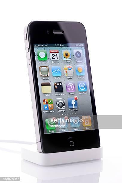 iPhone 4 on the dockingstation