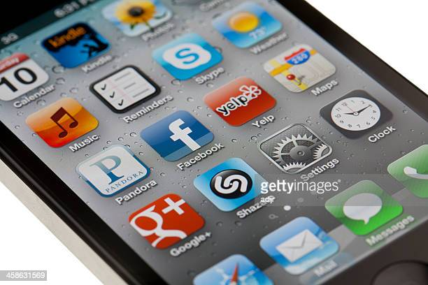 iPhone 4S with applications