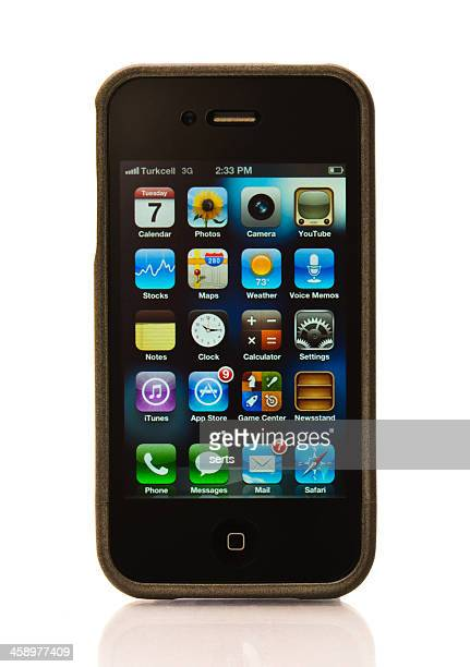 iPhone 4S with protector case