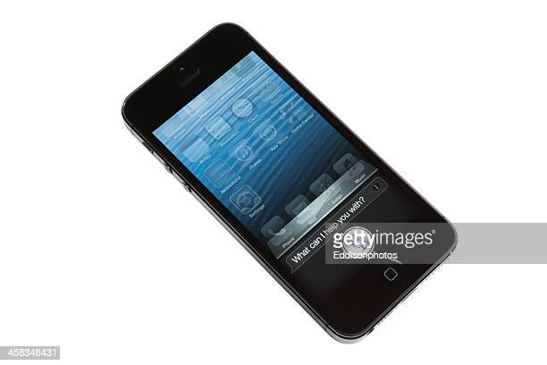 iphone 5 siri app - siri mobile app stock pictures, royalty-free photos & images