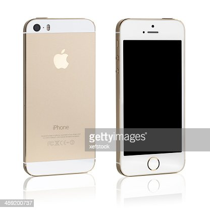 Iphone 5s Gold Back And Front View High-Res Stock Photo ...