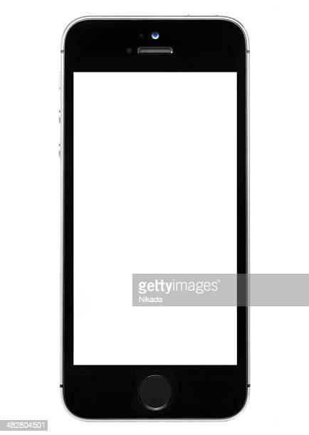 iphone 5s with a blank screen - siri mobile app stock pictures, royalty-free photos & images