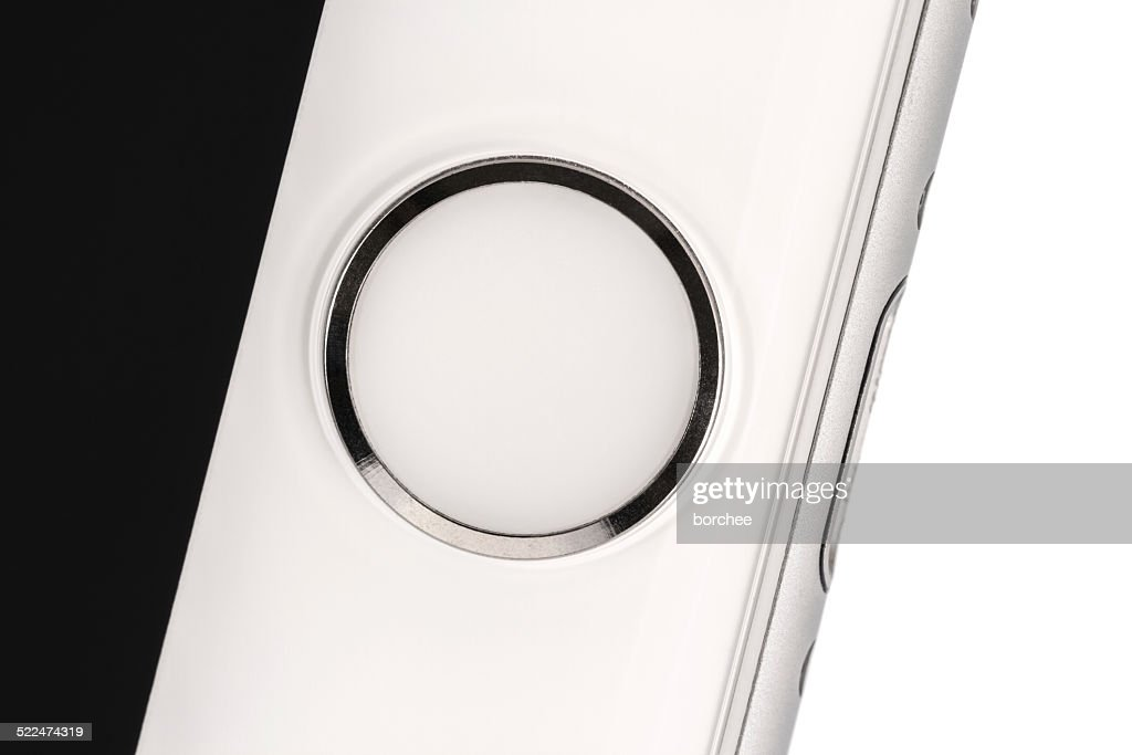 Iphone 6 Home Button With Touch Id Fingerprint Sensor Stock Photo