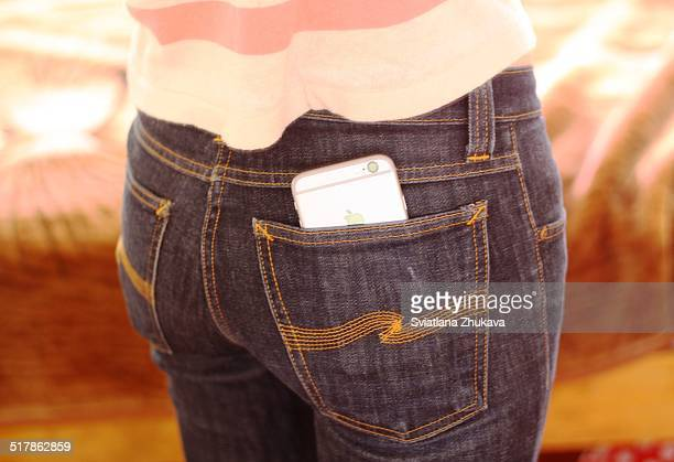 iPhone 6 in the back pocket