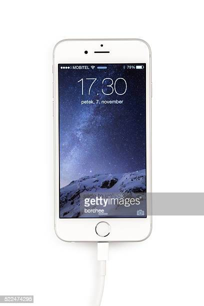 iPhone 6 Silver On White Background