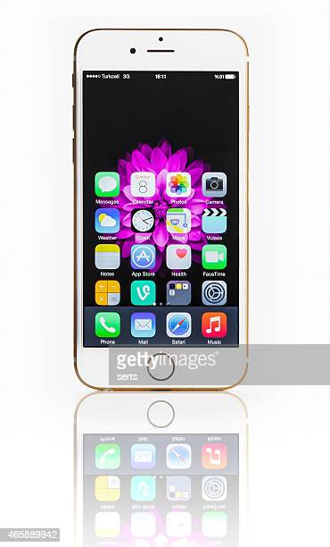 iPhone 6 with hands-on mode on white