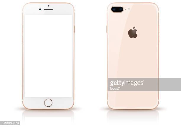 iphone 8 plus gold - plus key stock photos and pictures