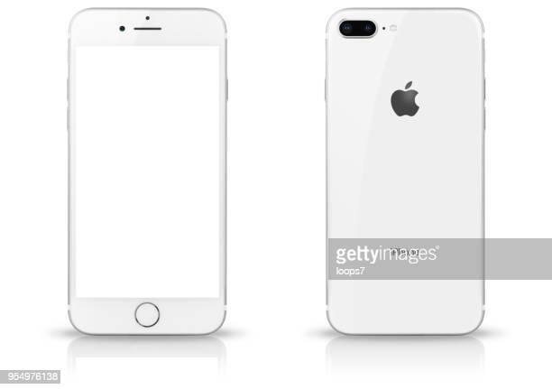 iphone 8 plus silver - smart phone foto e immagini stock
