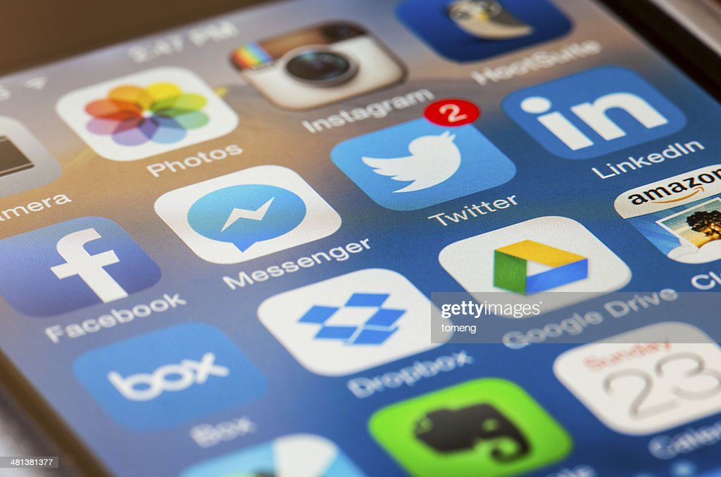 iPhone Homescreen Macro : Stock Photo