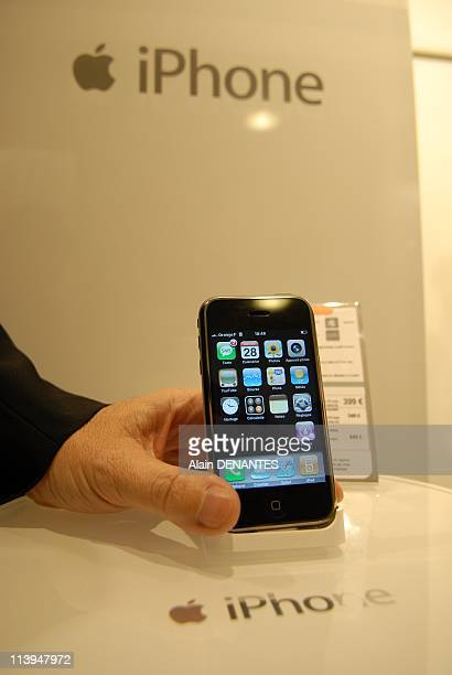 IPhone launching In Nantes France On November 28 2007The sale of mobile phone iPhone has officially started in France and the first buyers rush in...