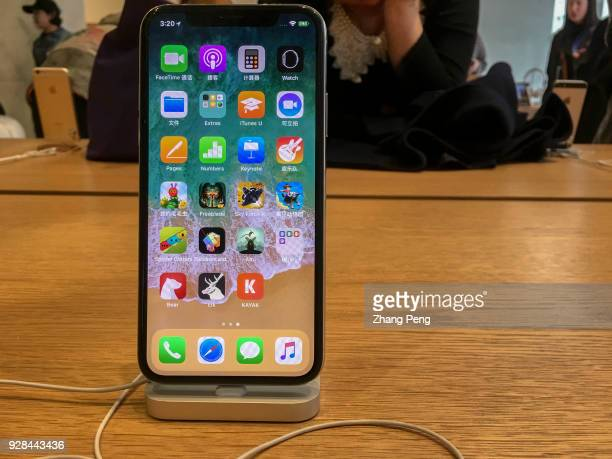 IPhone X shown in an Apple store Though the high price of iPhone X the sales of the new iPhone in China has surpassed the expectation In the 29...