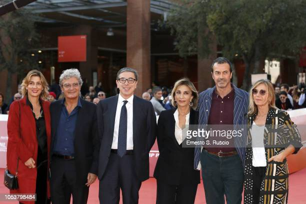 Ippolita Di Majo Mario Martone Artistic Director of Festival Antonio Monda Anna Bonaiuto Mario Martone Andrea Occhipinti and Concita De Gregorio walk...