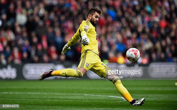 Ipswich goalkeeper Bartosz Bialkowski in action during the Sky Bet Championship match between Middlesbrough and Ipswich Town at the Riverside Stadium...