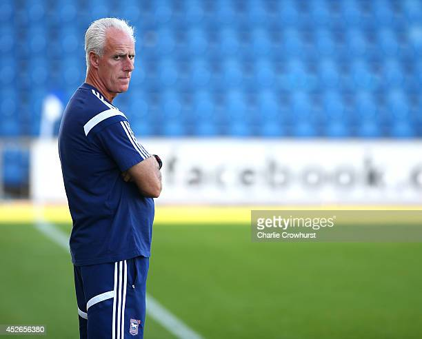 Ipswich manager Mick McCarthy during the Pre Season Friendly match between Colchester United and Ipswich Town at The Weston Homes Community Stadium...
