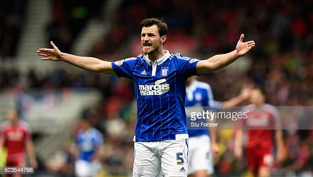 Ipswich player Tommy Smith in action during the Sky Bet Championship match between Middlesbrough and Ipswich Town at the Riverside Stadium on April...
