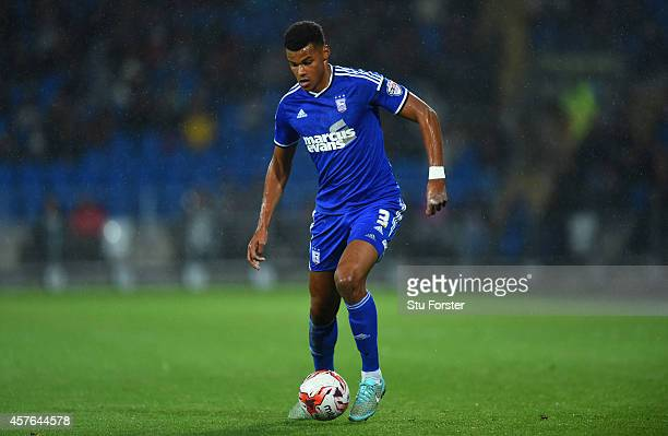 Ipswich player Tyrone Mings in action during the Sky Bet Championship match between Cardiff City and Ipswich Town at Cardiff City Stadium on October...