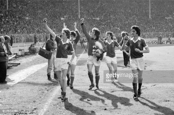 Ipswich Town 1-0 Arsenal, FA Cup Final, Wembley Stadium, London, Saturday 6th May 1978. Winners, Ipswich Town, victory lap. George Burley .