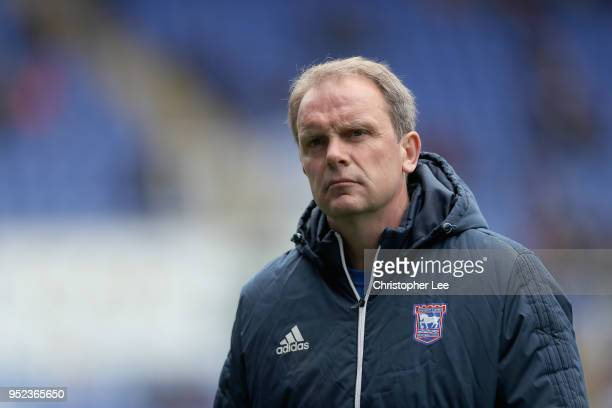 Ipswich Town CareTaker Manager Bryan Klug during the Sky Bet Championship match between Reading and Ipswich Town at Madejski Stadium on April 28 2018...