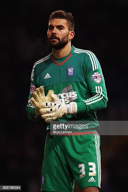 Ipswich Town goalkeeper Bartosz Bialkowski looks on during the The Emirates FA Cup Third Round match between Portsmouth and Ipswich Town at Fratton...