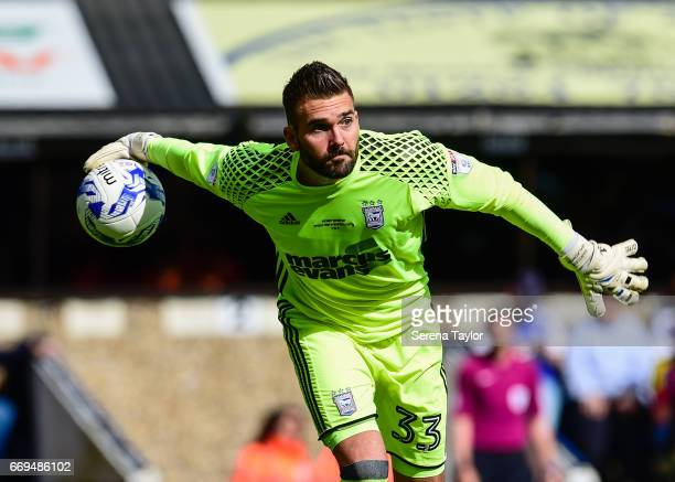 Ipswich Town Goalkeeper Bartosz Bialkowski throws the ball into play during the Sky Bet Championship Match between Ipswich Town and Newcastle United...